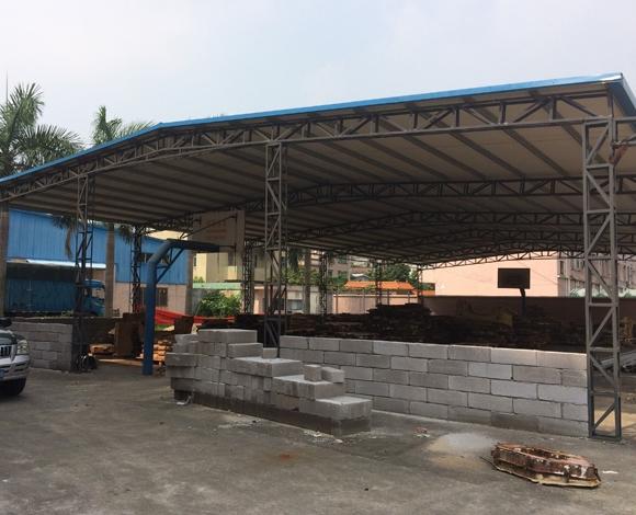 钢结构雨棚安装